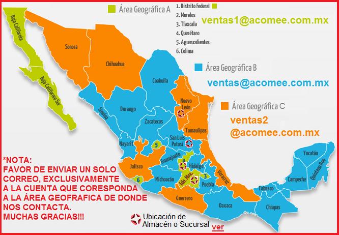 Area geografica de ventas acomee