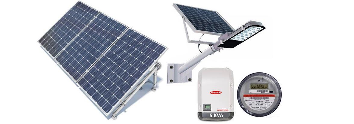 Paneles y luminarias Solares