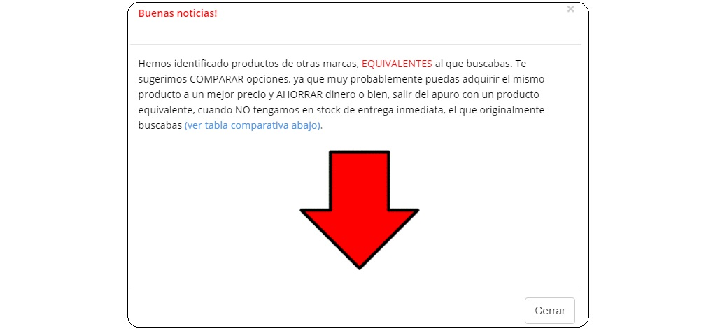 productos equivalentes